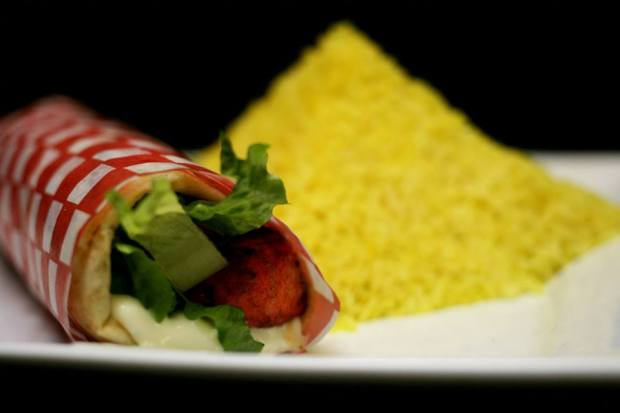 tandoori wrap and rice